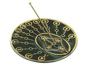Brass Modern-Themed Sundial