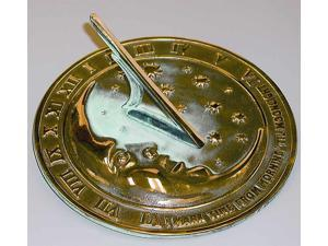Moon & Stars Sundial with Brass Construction