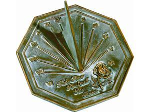 Rose Sundial with Brass Construction