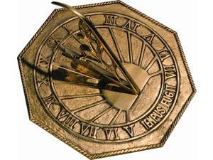 Classic Octagonal Sundial with Latin Motto