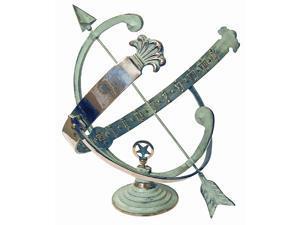 Armillary Sundial with Brass Frame