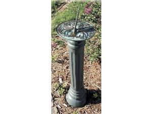 Ancient Roman-Style Sundial Pedestal w Cast Iron Frame