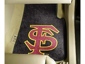 INACTIVATED-14.09.11-Bug145174_Set of 2 Carpeted Car Mats w Florida State University Logo