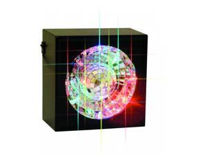 Rotating Mirror Ball with LED Light and Square Frame