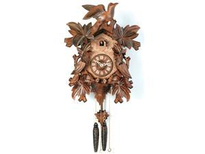 "16"" Cuckoo Clock with Seven Leaves, Three Birds, and Nest"