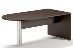 29 in. Freestanding Peninsula Desk (Mocha)