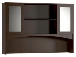 Modern Hutch with 2 Glass Doors (Cherry)