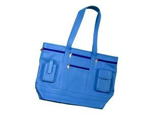 Contemporary Business Tote in Top Grain Leather w Several Accessory Pockets