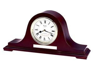 Annette II Arched Top Mantel Clock in Mahogany Finish w Engraving Plate - Bulova