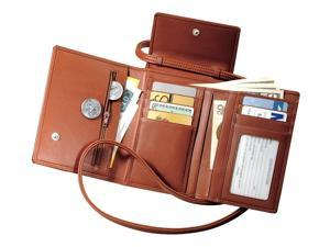 Deluxe Passport Case With Removable Neck/Shoulder Strap in Top Grain Leather