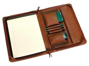 Executive Leather Pad folio with Zipper Closure