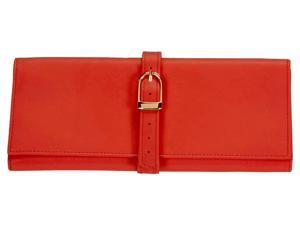 Red Nappa Leather Jewelry Roll