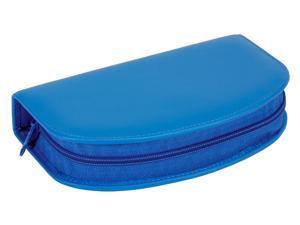 Ladies Travel Kit w Razor in Deluxe Leather Case w Zipper Closure