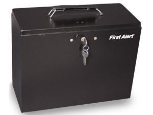 Cash & Security Steel File Box Safe in Black