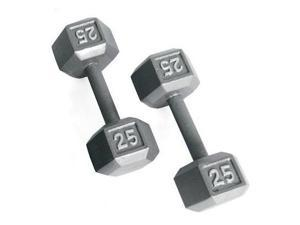 CAP Barbell Solid Hex Dumbbells in Gray Finish (14.21 in. L x 7.01 in. W x 6.06 in. H (70 lbs.))