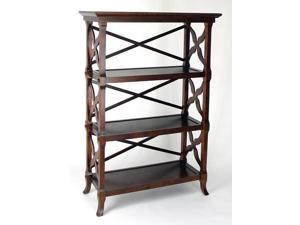 Charter Wood Book Stand w 3 Shelves (3 Shelves)