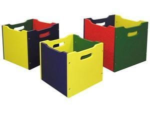 ORE International Nesting Toy Boxes - Set Of 3, Yellow, Red, Green - H-61