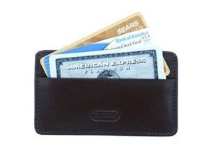 Card Holder Leather Wallet in Dark Brown (Antique Tan)