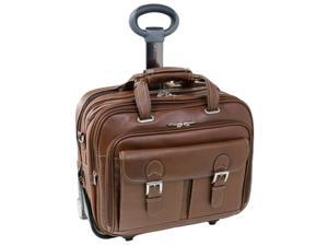 Check Point-Friendly Detachable-Wheeled Laptop Case (Cognac)