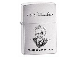Zippo Founder Windproof Lighter in Brushed Chrome