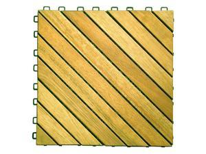 Vifah 12 Diagonal Slat Design Interlocking Deck Tile