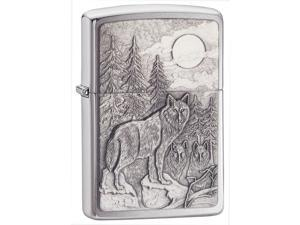 Timberwolves Windproof Lighter in Chrome