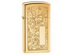 Venetian Windproof Lighter in High Polished Brass (Century)