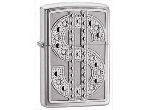 Bling Windproof Lighter in High Polished Chrome