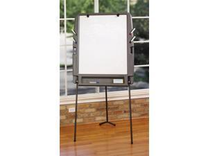 Portable Flipchart Easel in Charcoal w Dry Erase Surface