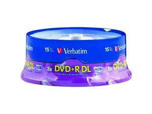 8.5 GB Dual-Layer DVD+Rs (15-Ct Spindle)