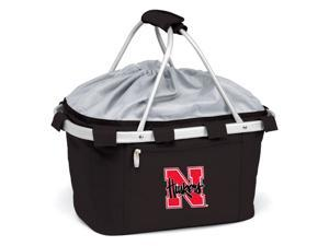 Metro Basket in Black Nebraska Cornhuskers Digital Print