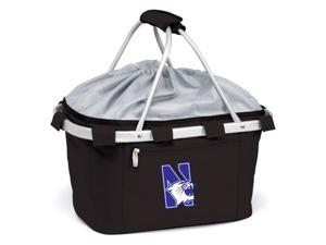 Metro Embroidered Basket in Black - Northwestern University Wildcats