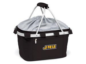 Metro Embroidered Basket in Black - James Madison University Dukes