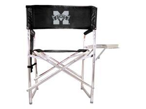 Digital Print Sports Chair in Black - Mississippi State Bulldogs