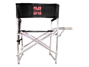 Embroidered Sports Chair in Black - University of Nebraska Cornhuskers