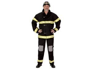 Adult Fire Fighter Suit with Helmet (Large)