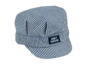Train Engineer Cap in Blue and White