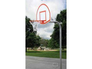 Unbraced Basketball Post Package w Fan-Shape Backboard