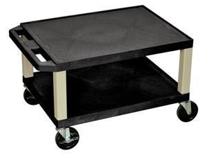 Tuffy 16 in. AV Cart w 2 Shelves in Black