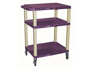 Tuffy 18 AV Cart w 3 Shelves in Purple