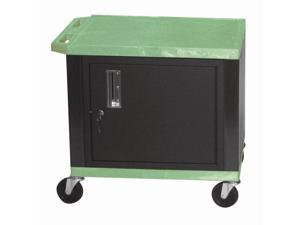 Tuffy WT Series Plastic Utility Cart w Black Cabinet