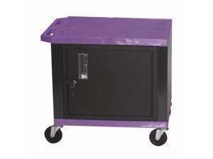 Tuffy 18 in. Cart w Steel Cabinet in Purple & Black