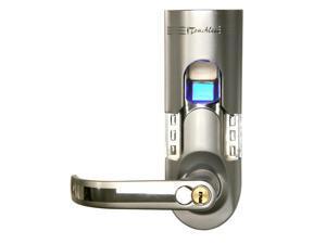 Bio-Matic Fingerprint Door Lock in Silver (Left handled model)