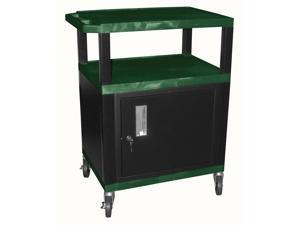 Tuffy AV Cart in Hunter green & Black