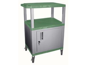Tuffy AV Cart w Heavy Duty Casters in Green & Nickel