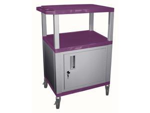 Tuffy Plastic AV Cart w Casters in Purple & Nickel