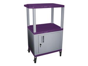 Tuffy 18 in. Mobile Multi-Purpose Cart in Purple