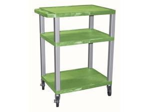 Tuffy 24 in. AV Cart w Green Shelves