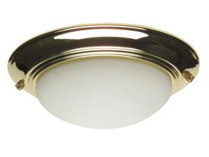 Flushmount Elegance Light Kit in Polished Brass (Antique White)