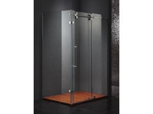 36 in. x 48 in. Shower Glass Enclosure -Stainless Steel Hardware